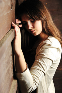 Beautiful young fashion female model