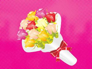Beautifull Flower Bouque Series Design5