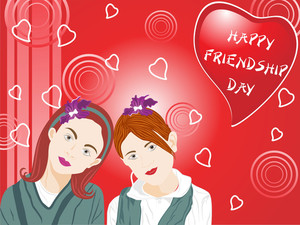 Beautifull Illustration Of Two Female Friend_2