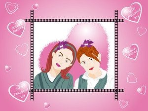 Beautifull Illustration Of Two Female Friend_3