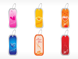 Beautifull Tag With Romantic Heart Set_10