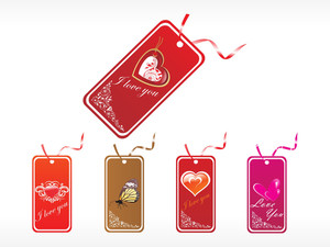 Beautifull Tag With Romantic Heart Set_19
