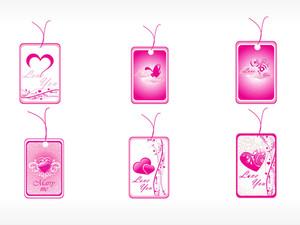 Beautifull Tag With Romantic Heart Set_4