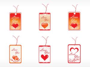 Beautifull Tag With Romantic Heart Set_6