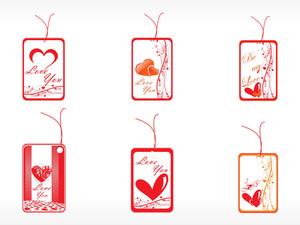 Beautifull Tag With Romantic Heart Set_7