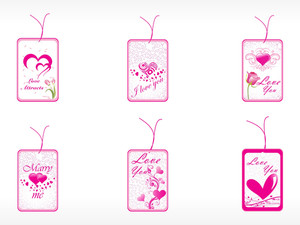 Beautifull Tag With Romantic Heart Set_8