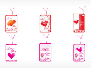 Beautifull Tag With Romantic Heart Set_9