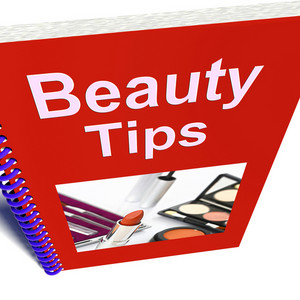 Beauty Tips Book Shows Makeup Help And Advice