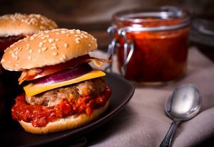 Beef Burgers And Ajvar Salad