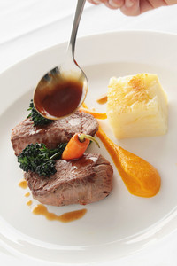 Beef Lamb Steak Plated Meal