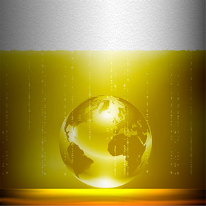 Beer Background With Globe
