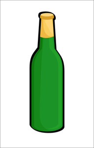 Beer Bottle Vector Shape