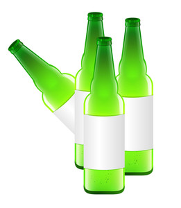 Beer Bottles Vector Design