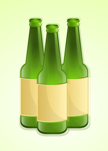 Beer Bottles With Labels