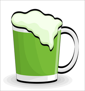 Beer Glass Retro Vector Design
