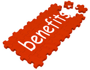 Benefits Puzzle Shows Compensations