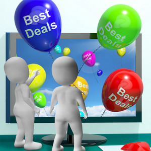 Best Deals Balloons Represent Bargains And Discounts Online
