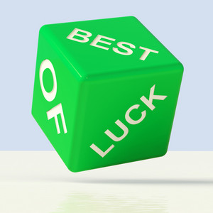 Best Of Luck Dice Representing Gambling And Fortune