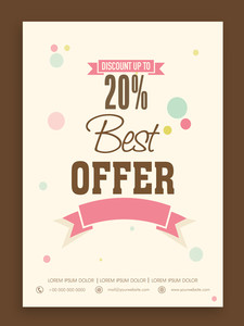 Best offer flyer banner or template design for your business.