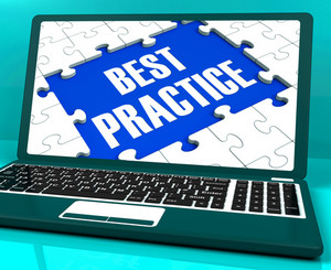 Best Practice On Laptop Showing Successful Practices