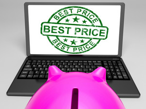 Best Price Stamp On Laptop Showing Promotional Ranking