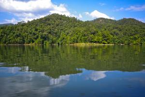 Beutiful dam landscape on Chiang Mai, Thailand