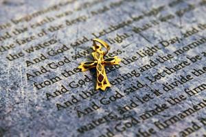 Bible And Golden Cross
