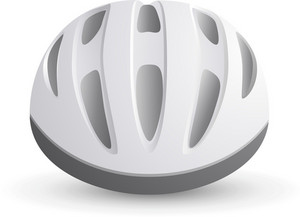 Bicycle Helmet White Lite Sports Icon