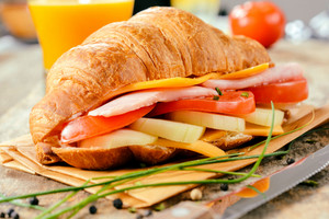 Big Croissant Sandwich