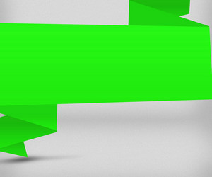 Big Green Origami Background Image