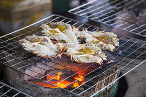 Big prawn fire grill