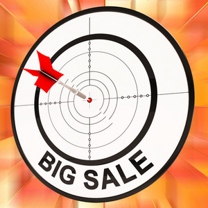 Big Sale Shows Discount And Cheap Pricing
