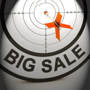 Big Sale Shows Promotion Offers Reductions And Savings