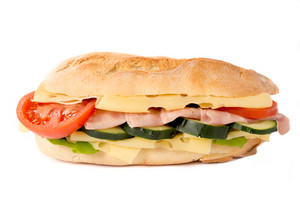Big Sandwich Isolated