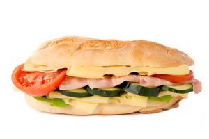 Big Sandwich Isolated