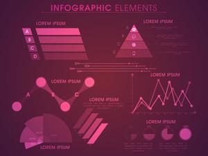 Jogo grande de vários elementos infográfico estatísticos para seus relatórios de negócios e apresentação.