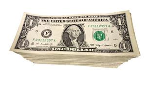 Big Stack of Dollar Bills