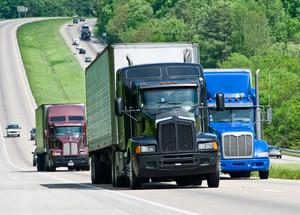 Big Trucks On The Interstate Highway