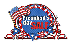 Big Usa Patriotic Sale Presidents Day Vector Illustration