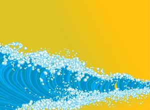 Big Wave. Vector.
