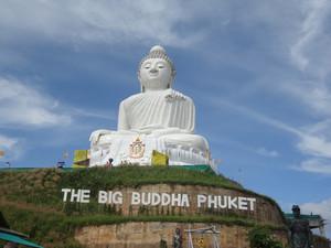 Big White Marble Buddha Statue