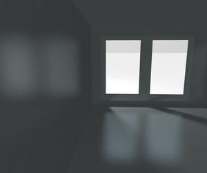 Big Window Empty Interior Rendered Background
