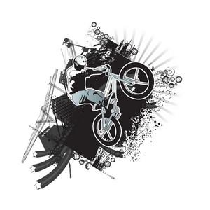 Biker With Grunge