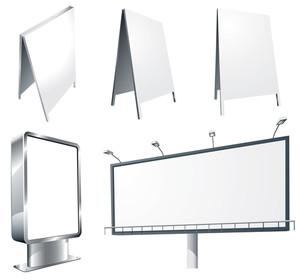 Billboards. Vector Set.