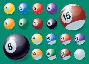 Billiards. Vector.
