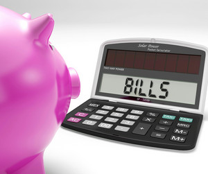 Bills Calculator Shows Payments Due Re Expenses