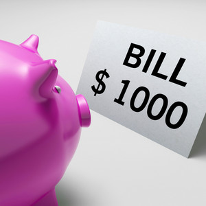 Bills Dollars Shows Invoices Payable And Accounting
