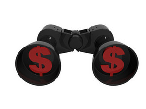 Binocular With Dollar Symbols