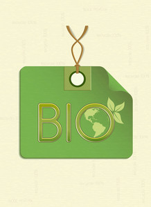 Bio Shopping Tag Vector Illustration