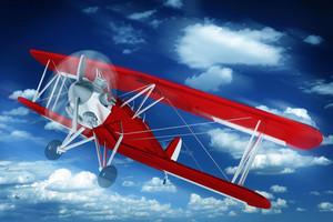 Biplane On The Sky